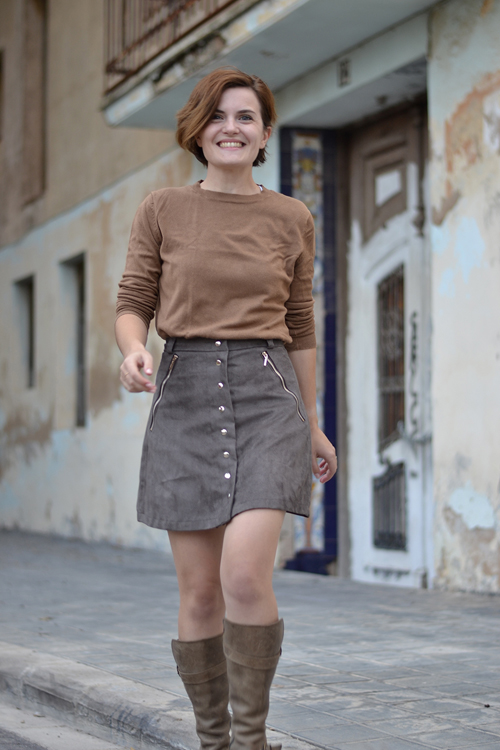 how to make a mini skirt out of fabric
