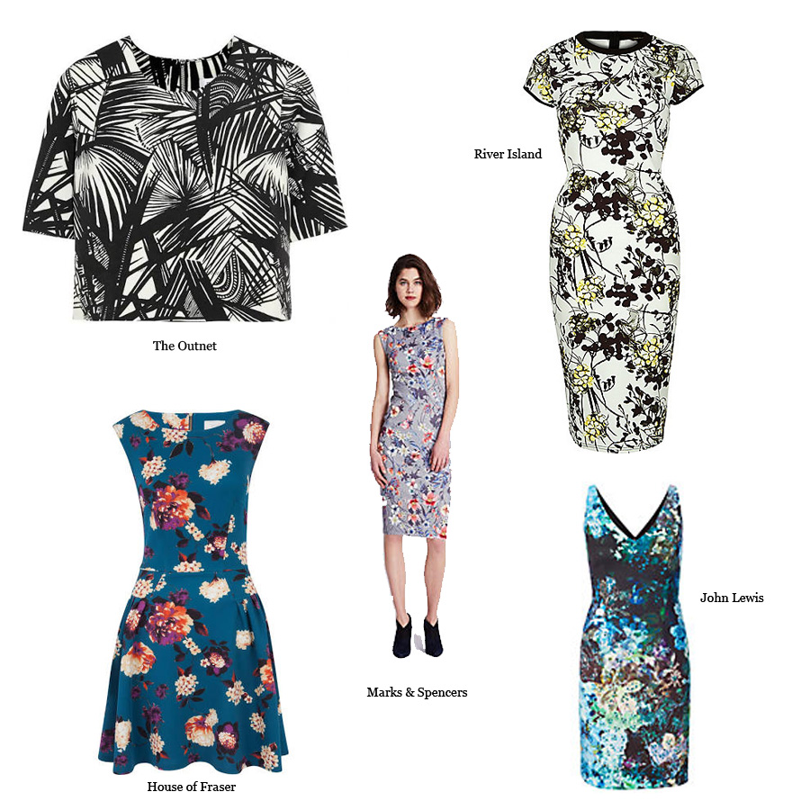 Floral Scuba Jersey Sewing Dragonfly Fabrics Dress