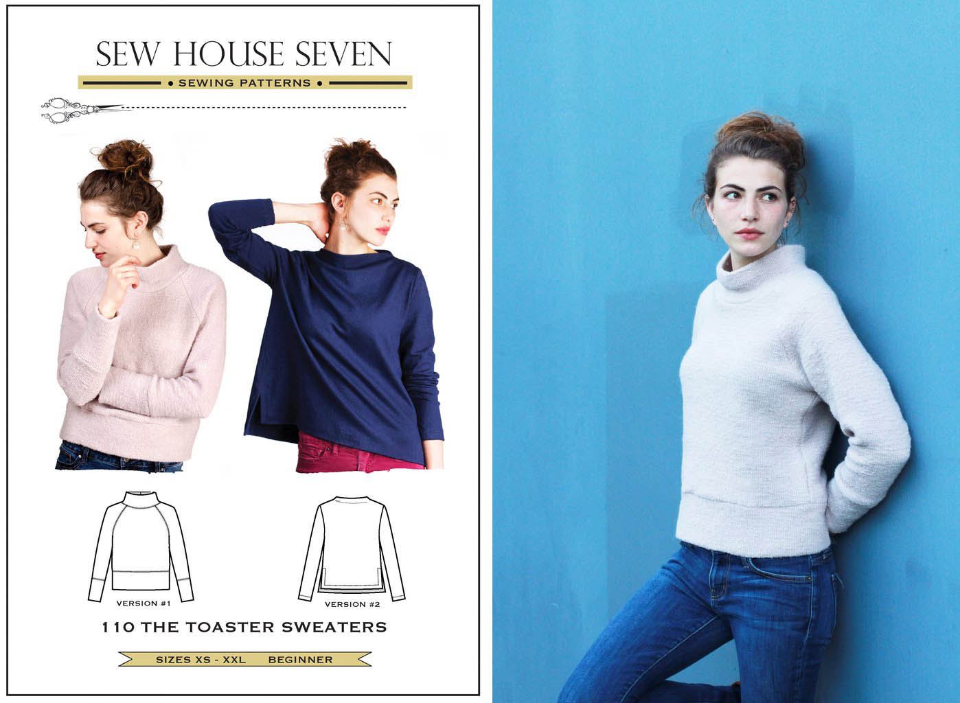 Sew House Seven Toaster Sweater Dragonfly Fabrics Dress