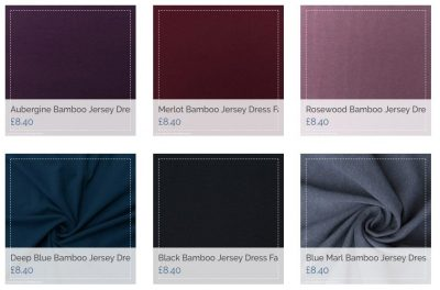 bamboo jersey dress fabric uk