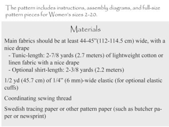 Sew Liberated - Schoolhouse Tunic Sewing Pattern
