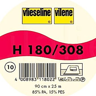 Vilene- Lightweight Fusible Interfacing H 180 white