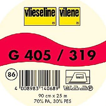 Vilene Mediumweight Fusible Interfacing G405 white