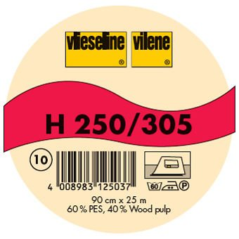 Vilene Firm Fusible Interfacing H250 white