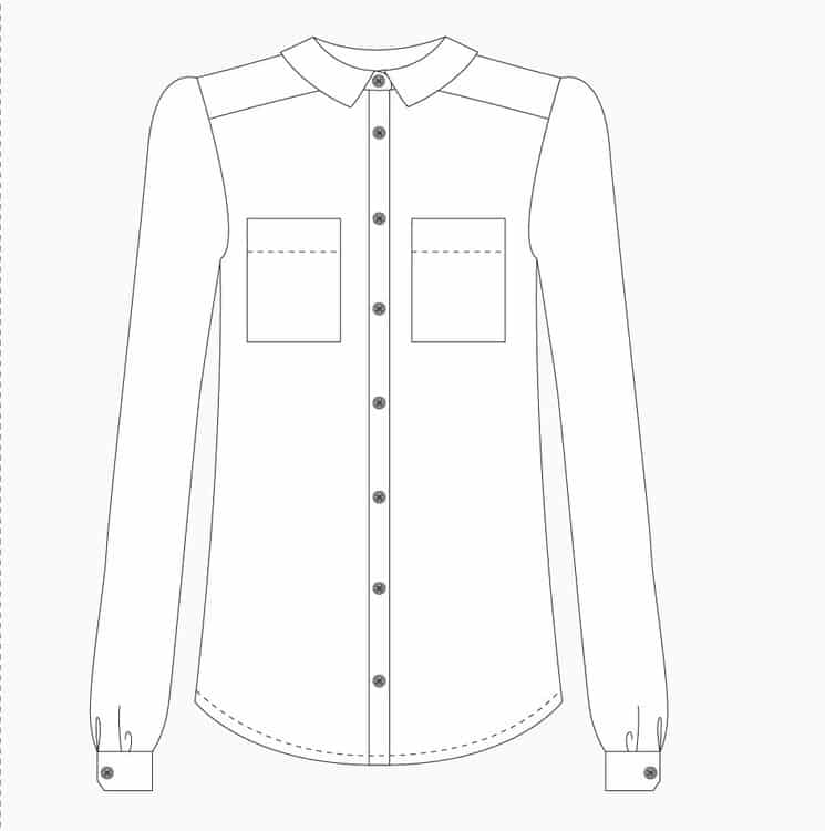Grainline Studio - Archer Button Up Shirt Sewing Pattern | Dress ...