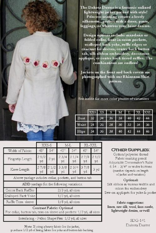 Serendipity Studio - The Dakota Duster Jacket Sewing Pattern