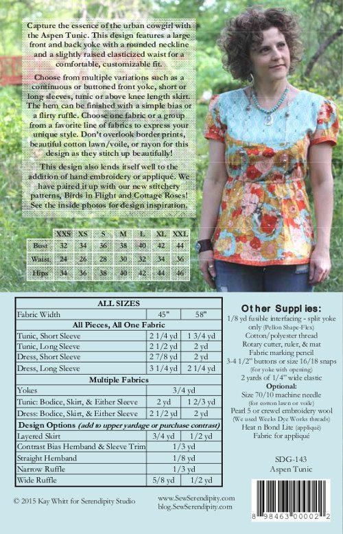 Serendipity Studio -  Aspen Tunic Sewing Pattern
