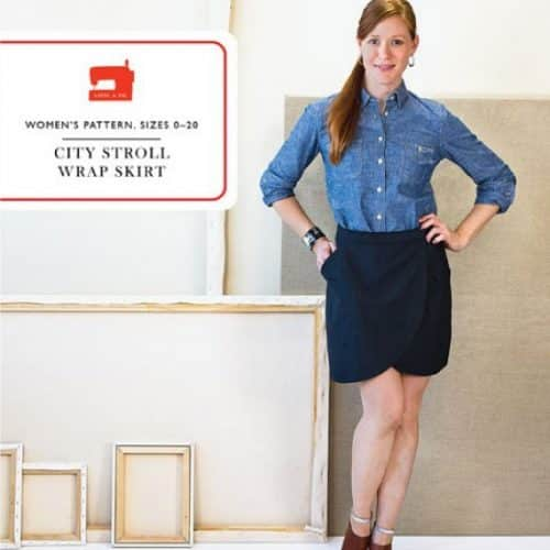 Liesl & Co City Stroll Wrap Skirt Sewing Pattern