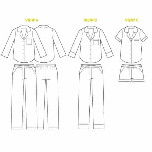 Closet Case Files - Carolyn Pajama Sewing Pattern