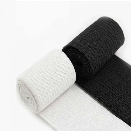 25mm Loom Elastic - white