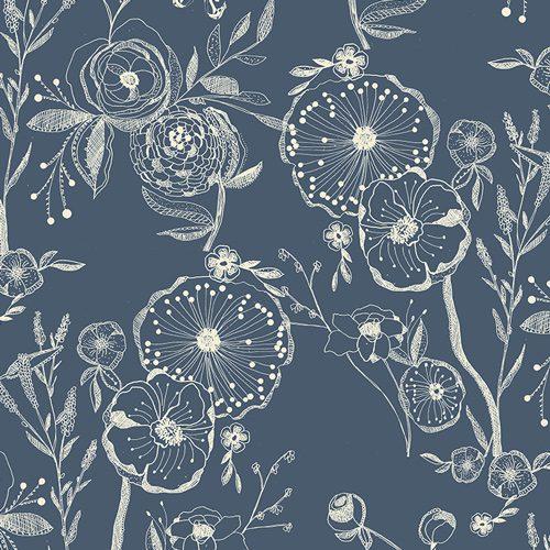 Art Gallery Knit Fabric - Millie Fleur Line Drawings