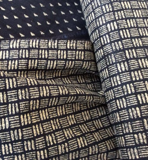 Japanese Cotton Print Dress Fabric - Geo Lines Indigo