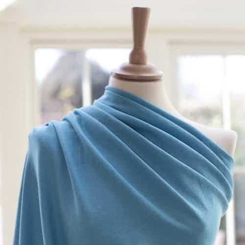 Linen Cotton Blend Dress Fabric - Pool