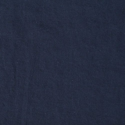 Linen Cotton Blend Dress Fabric - Navy