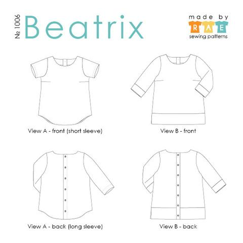 Made By Rae - Beatrix Top Sewing Pattern