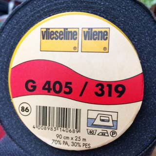 Vilene Mediumweight Fusible Interfacing G405 charcoal