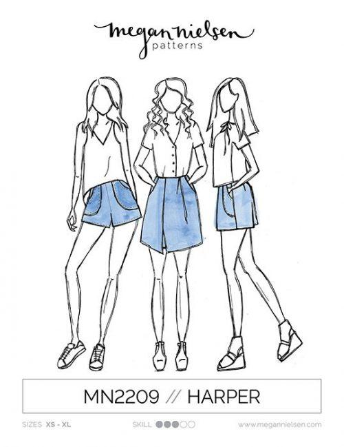 Megan Nielsen - Harper Shorts & Skort Sewing Pattern