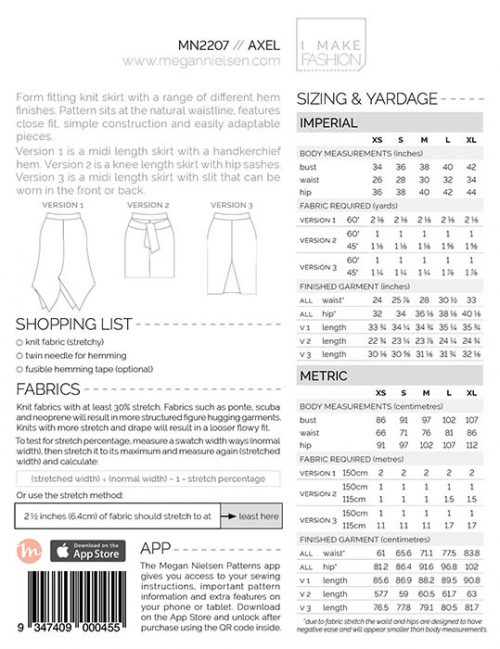 Megan Nielsen - Axel Skirt Sewing Pattern