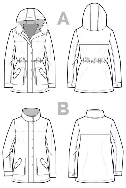 Closet Case Files - Kelly Anorak Sewing Pattern