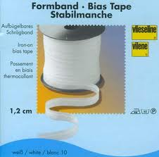 Vilene Fusible Bias Tape/ Seam Stabiliser WHITE
