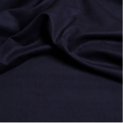 Stretch Finecord Dress Fabric - Navy