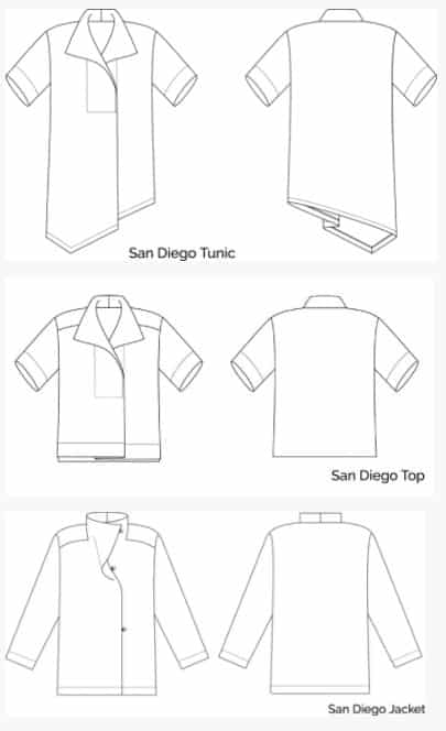 Sewing Workshop - San Diego Tunic Top & Jacket Sewing Pattern