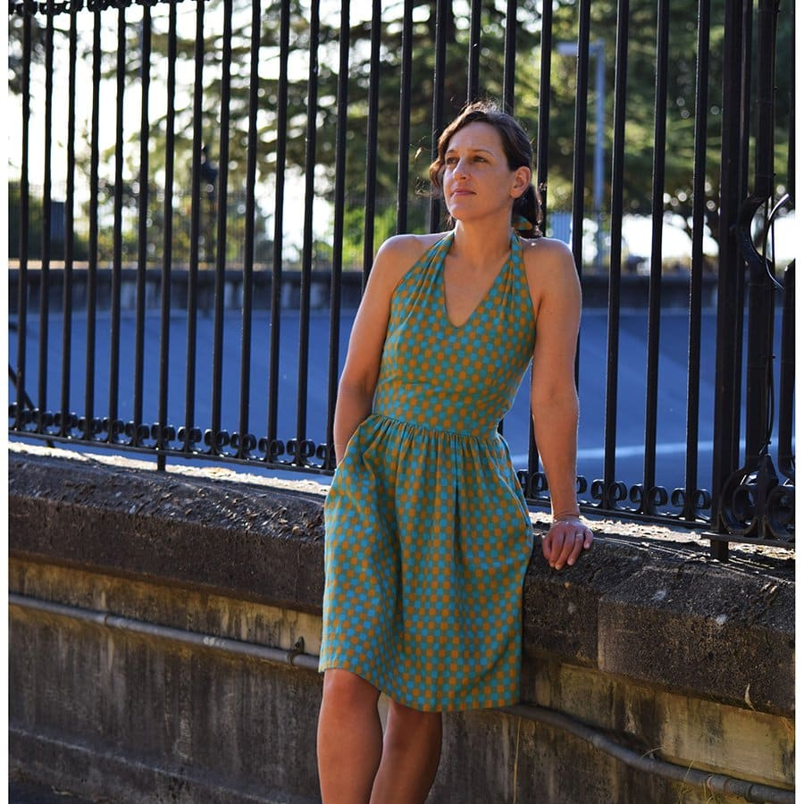 The Rose City Halter Dress Sewing Pattern by Sew House Seven