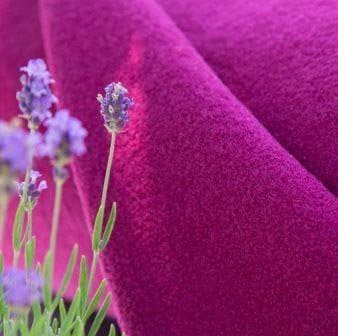boiled wool knit fabric in deep cerise magenta