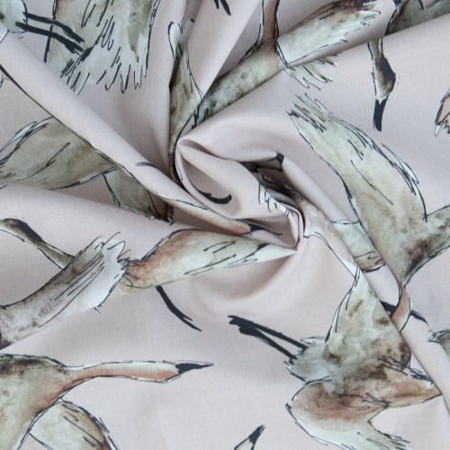 Lady McElroy Cotton Lawn Dress Fabric - Flying Flock blush