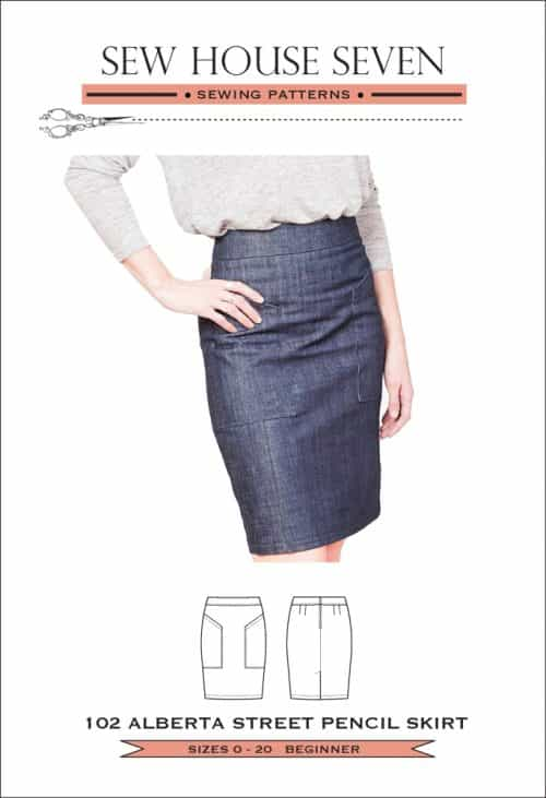 Sew House Seven - The Alberta Street Pencil Skirt Sewing Pattern