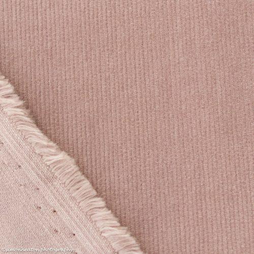 Stretch Needlecord Dress Fabric - Dusky Pink
