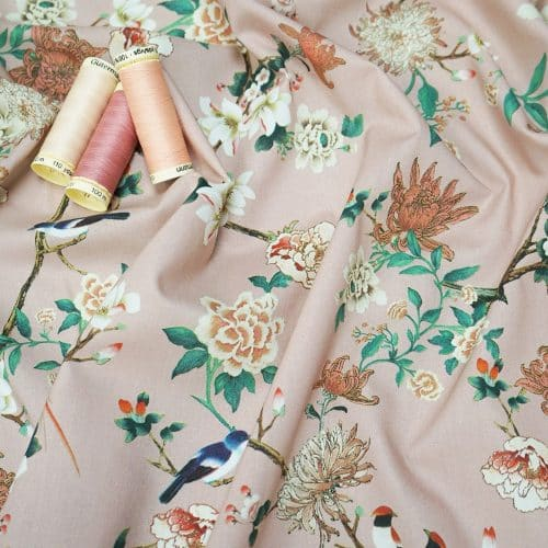 Lady McElroy Cotton Lawn Dress Fabric - Japanese Garden