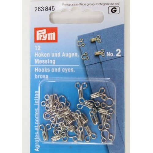 prym brass hook and eye