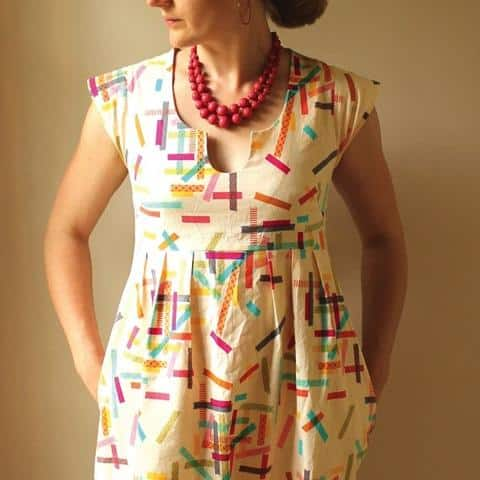 washi dress sewing pattern- made by rae