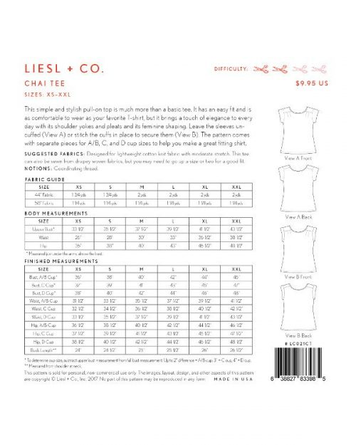Liesl & Co Chai Tee Pattern