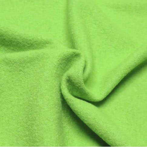 boiled wool coating fabric bright green