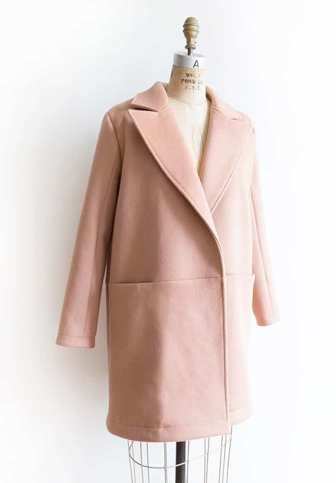 Grainline Studio Yates Coat Sewing Pattern Dress