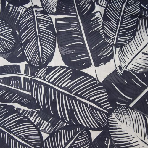cotton lawn feather print marine