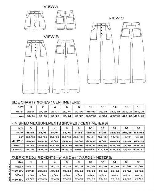Lander Pant- True Bias Sewing Patterns