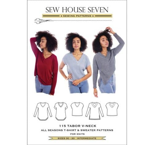 Tabor V-Neck Top Pattern- Sew House Seven