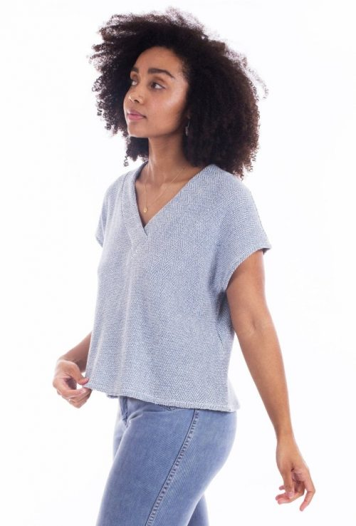 Tabor V-Neck Top Sewing Pattern - Sew House Seven