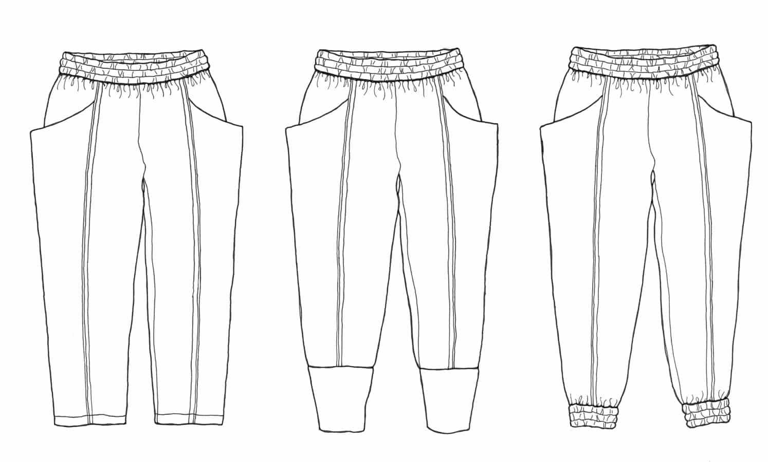 Sew Liberated Arenite Pants Sewing Pattern - Dressmaking Patterns