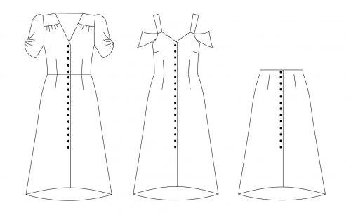 Nina Lee Kew Dress & Skirt Sewing Pattern