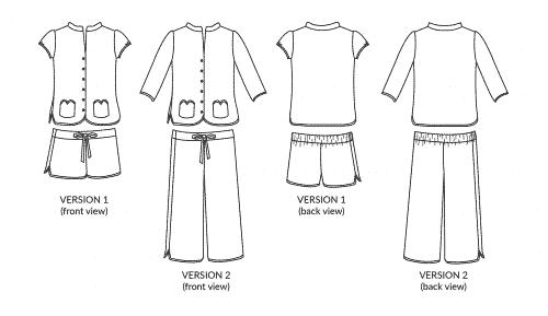 Nina Lee Piccadilly Pyjamas Sewing Pattern