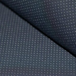 Punto Di Milano Jersey Dress Fabric – Pin Dots Navy