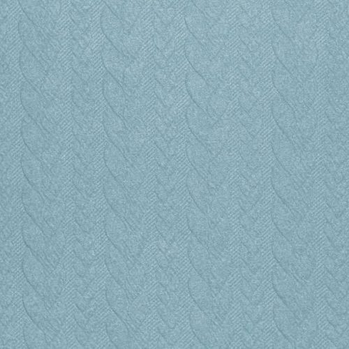 Cable Knit Jacquard Dress Fabric - Sea Green