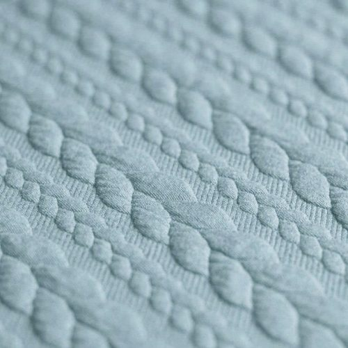 Cable Knit Jacquard Dress Fabric - Sea Green