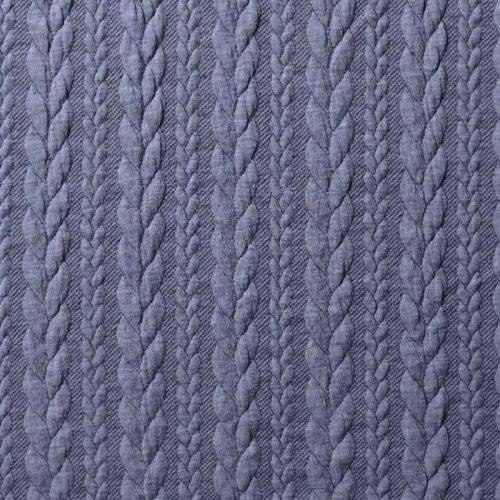 cable-knit-ponte jeans blue