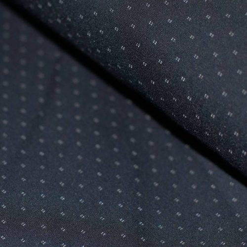 Punto Di Milano Jersey Dress Fabric - Diamond Dots Navy