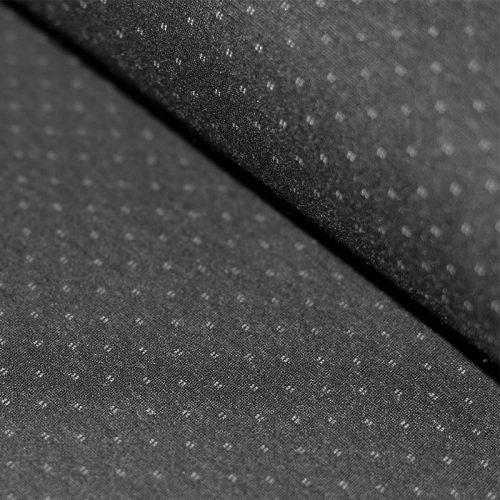 Punto Di Milano Jersey Dress Fabric - Diamond Dots Grey